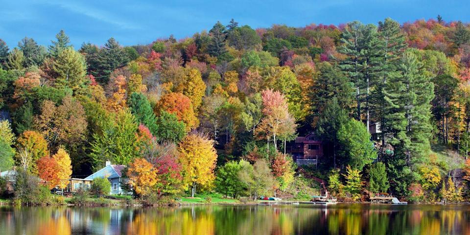 """<p><strong>Best for Fall Foliage </strong></p><p>Some of New England's most spectacular <a href=""""https://www.bestproducts.com/fun-things-to-do/g2935/new-england-fall-foliage-vacations/"""" rel=""""nofollow noopener"""" target=""""_blank"""" data-ylk=""""slk:fall foliage"""" class=""""link rapid-noclick-resp"""">fall foliage</a> can be found in Manchester in the heart of Vermont's Green Mountains. Drive alone Route 7A, part of the Shires of Vermont Byway, where you'll pass maple and oak trees bursting with autumnal color. Afterward, treat yourself to a traditional pot roast at the cozy <a href=""""https://go.redirectingat.com?id=74968X1596630&url=https%3A%2F%2Fwww.tripadvisor.com%2FRestaurant_Review-g57312-d542244-Reviews-YE_OLDE_TAVERN-Manchester_Vermont.html&sref=https%3A%2F%2Fwww.countryliving.com%2Flife%2Fg37186621%2Fbest-places-to-experience-and-visit-in-the-usa%2F"""" rel=""""nofollow noopener"""" target=""""_blank"""" data-ylk=""""slk:Ye Olde Tavern"""" class=""""link rapid-noclick-resp"""">Ye Olde Tavern</a>.</p><p><strong><em>Where to Stay:</em></strong> <a href=""""https://go.redirectingat.com?id=74968X1596630&url=https%3A%2F%2Fwww.tripadvisor.com%2FHotel_Review-g57312-d8541674-Reviews-Kimpton_Taconic_Hotel-Manchester_Vermont.html&sref=https%3A%2F%2Fwww.countryliving.com%2Flife%2Fg37186621%2Fbest-places-to-experience-and-visit-in-the-usa%2F"""" rel=""""nofollow noopener"""" target=""""_blank"""" data-ylk=""""slk:Kimpton Taconic Hotel"""" class=""""link rapid-noclick-resp"""">Kimpton Taconic Hotel</a>, <a href=""""https://go.redirectingat.com?id=74968X1596630&url=https%3A%2F%2Fwww.tripadvisor.com%2FHotel_Review-g57312-d114257-Reviews-Wilburton_Inn-Manchester_Vermont.html&sref=https%3A%2F%2Fwww.countryliving.com%2Flife%2Fg37186621%2Fbest-places-to-experience-and-visit-in-the-usa%2F"""" rel=""""nofollow noopener"""" target=""""_blank"""" data-ylk=""""slk:Wilburton Inn"""" class=""""link rapid-noclick-resp"""">Wilburton Inn</a></p>"""
