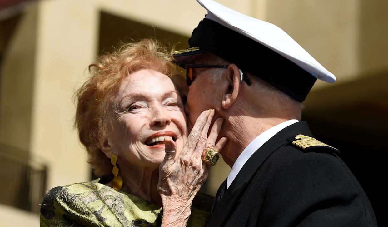 """Jeraldine Saunders, whose 1974 memoir of her time as a cruise director inspired the long-running television series """"The Love Boat,"""" died on February 25, 2019. She was 95."""