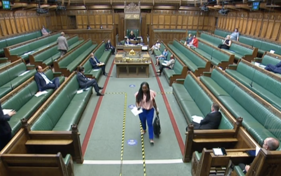 Dawn Butler was ordered to leave the House of Commons on Thursday. (Parliamentlive.tv)