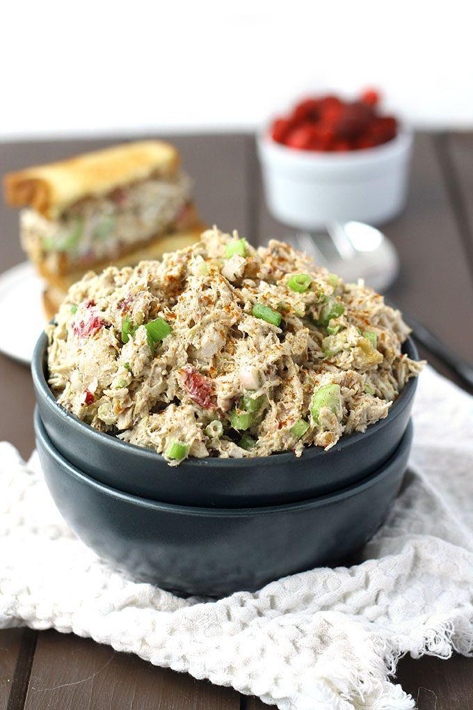 """<p>It's amaze on a sandwich, lettuce, or just on its own.</p><p>Get the recipe from <a href=""""http://www.thehealthymaven.com/2014/11/leftover-turkey-cranberry-sauce-salad.html"""" rel=""""nofollow noopener"""" target=""""_blank"""" data-ylk=""""slk:The Healthy Maven"""" class=""""link rapid-noclick-resp"""">The Healthy Maven</a>.</p>"""