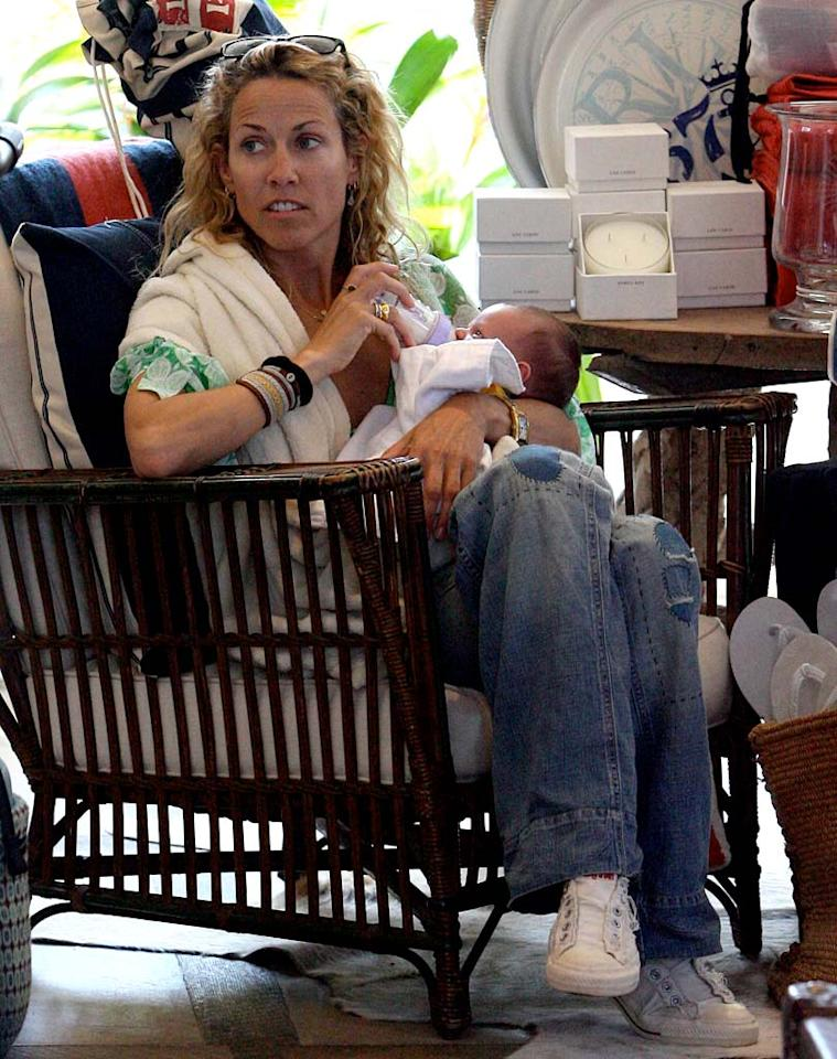 """Sheryl Crow became a first-time mom when she adopted a baby boy in May.The singer/songwriter named her son Wyatt after her dad. <a href=""""http://www.x17online.com"""" target=""""new"""">X17 Online</a> - May 27, 2007"""