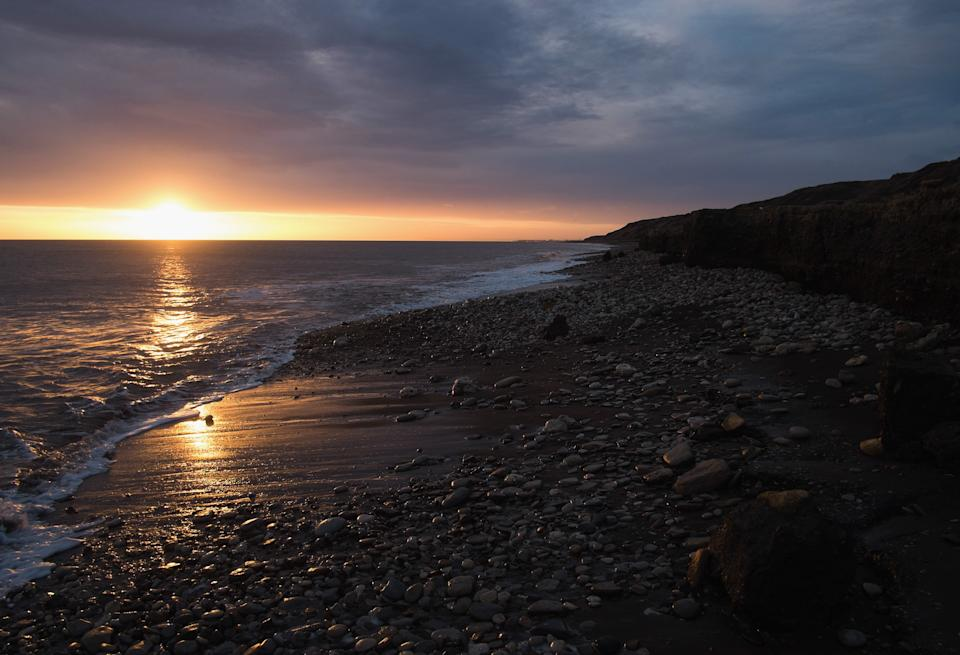 Sunrise over the beach in Horden, a former East Durham mining village.  (Getty Images)