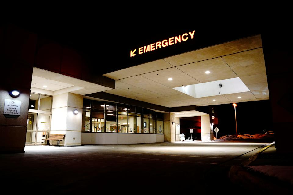 A general view of the emergency room at Avera St. Luke's Hospital, a 119-bed rural hospital, as the coronavirus disease (COVID-19) outbreak continues in Aberdeen, South Dakota, U.S., October 26, 2020. Picture taken October 26, 2020. REUTERS/Bing Guan