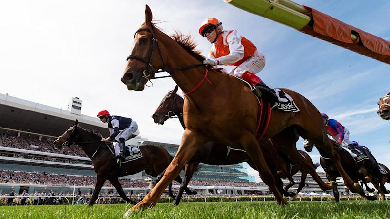 Australian stayer Vow And Declare has repelled the overseas challenge in the Melbourne Cup