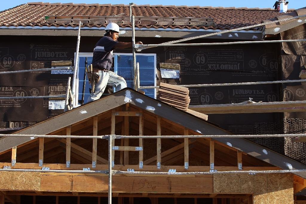 Construction of new US homes fell to a one-year low in September as hurricane-damaged housing markets struggled to recover from August and September's back-to-back hurricanes, government data showed (AFP Photo/ROBYN BECK)