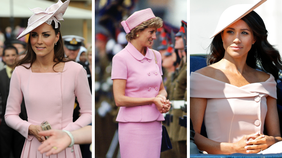 <p>All three ladies definitely know how to pull off a pink outfit.<em> [Photo: Getty]</em> </p>