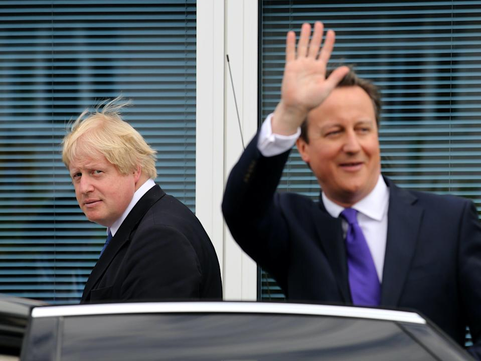 Boris Johnson and David Cameron together in 2015 (PA)