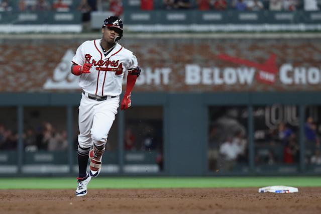 Ronald Acuña Jr. hit .322/.403/.625 with 19 home runs in the second-half of the season. (Getty Images)