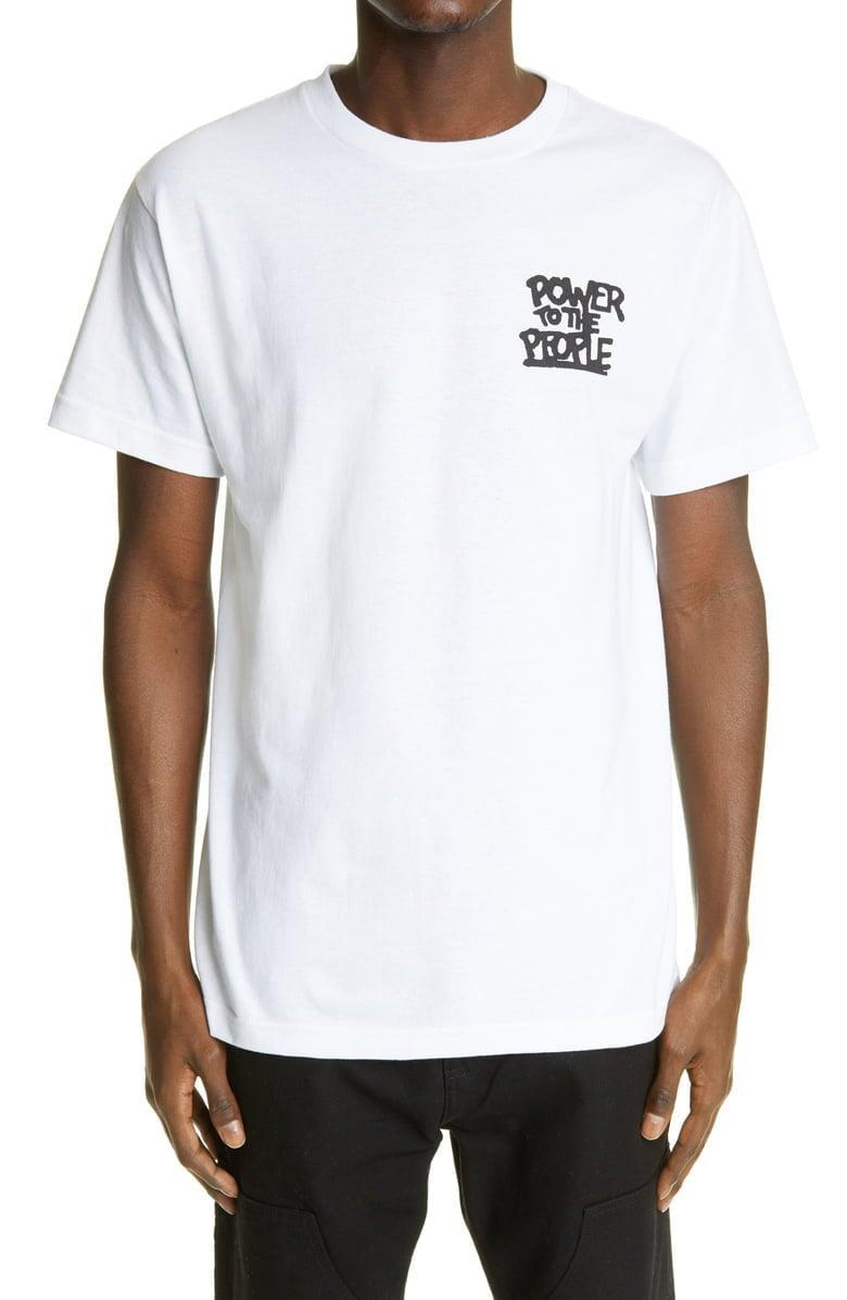 <p>We'd proudly wear this <span>Adeshola Makinde Power to the People Cotton Graphic Tee</span> ($50).</p>