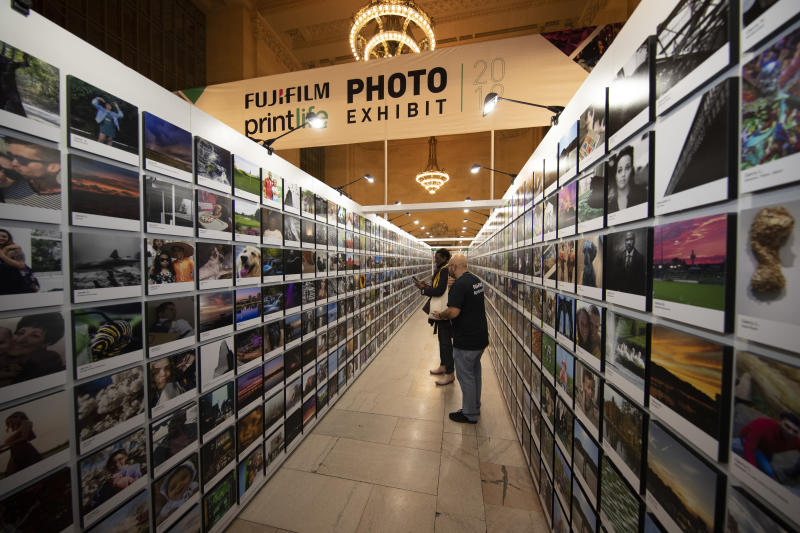 Rows and rows of wonderful photos taken by shutterbugs nationwide. (Photo: Gordon Donovan/Yahoo News)
