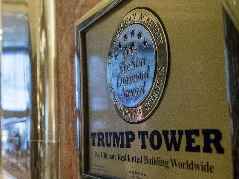Trump Tower in New York: AP