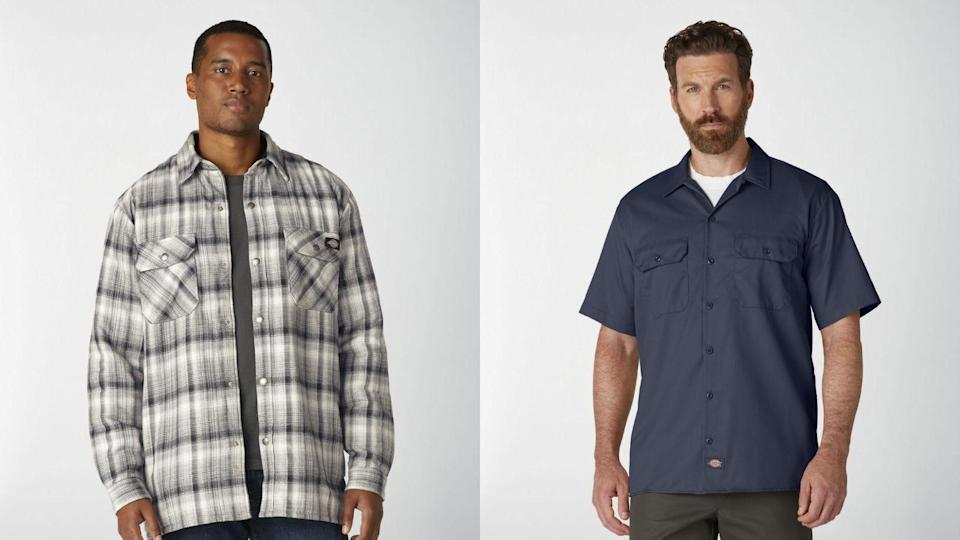 Workwear offerings from Dickies convey a rugged look.
