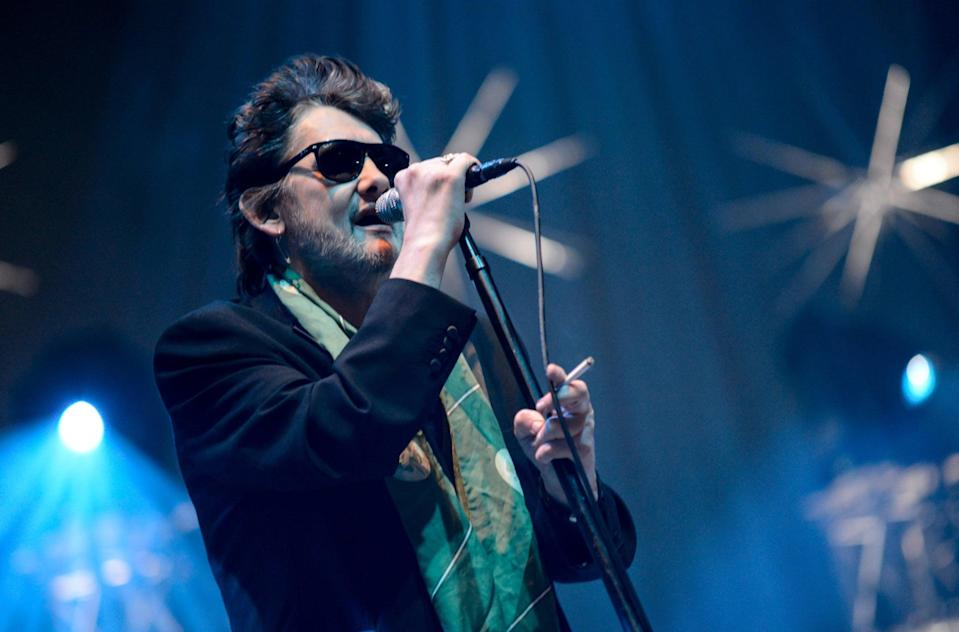 Shane MacGowan of the Pogues performing last night (Getty Images)