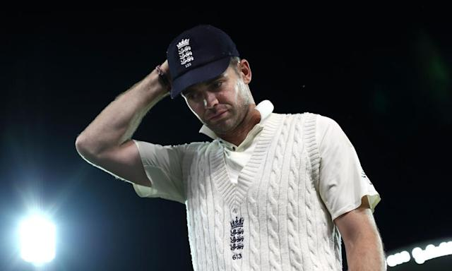 """<span class=""""element-image__caption"""">England's new vice-captain Jimmy Anderson was unimpressed by the batting collapse against a Cricket Australia XI: 'It's not ideal is it?' he said.</span> <span class=""""element-image__credit"""">Photograph: Ryan Pierse/Getty Images</span>"""