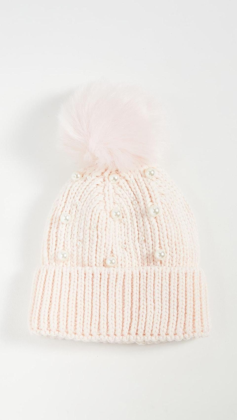 <p>We'll cozy up with this <span>Eugenia Kim Myrna Beanie</span> ($68).</p>