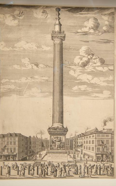 An original drawing of The Monument - Credit: Paul Grover for the Telegraph