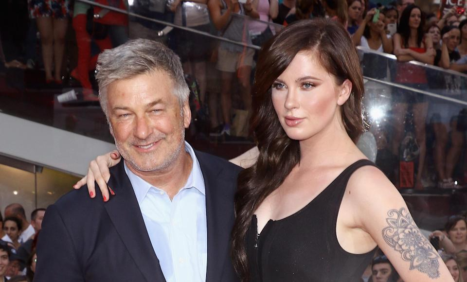 Alec Baldwin and daughter Ireland Baldwin at the <em>Mission Impossible: Rogue Nation</em> New York premiere on July 27, 2015, in New York City. (Photo: Jim Spellman/WireImage)