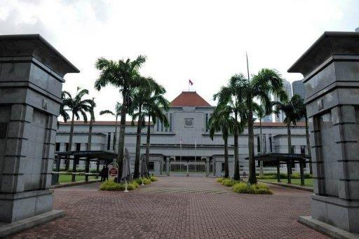 The entrance to the Parliament House compound in Singapore. Singapore is to slash the multi-million dollar salaries of top leaders by at least a third, in cuts aimed at appeasing public anger after landmark May 2011 elections