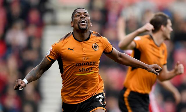 Ivan Cavaleiro celebrates after putting Wolves 2-0 up against Middlesbrough.