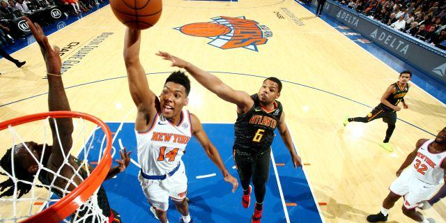 Tim Hardaway Jr. scores 31 points and Kevin Knox adds 10 off the bench as the Knicks blowout the Hawks, 126-107. Trae Young finishes with 14 points in his NBA debut.