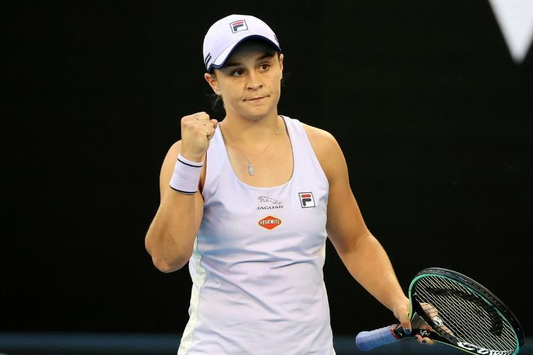 Australia's Ashleigh Barty raced through her opening match