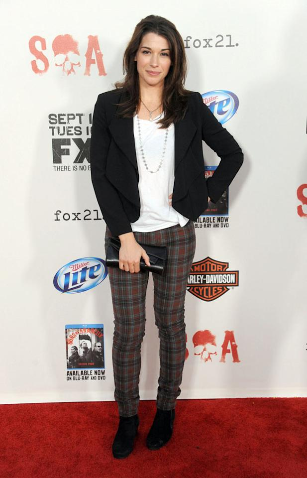 """Dorian Brown attends the """"Sons of Anarchy"""" Season 5 premiere screening at Westwood Village on September 8, 2012 in Los Angeles, California."""