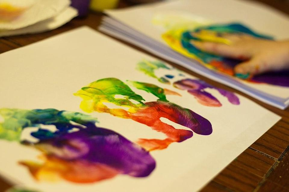<p>Get messy with finger paint - no explanation required!</p>