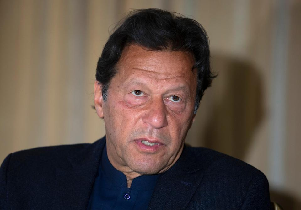 Pakistan's prime minister Imran Khan was interviewed on the American news platform, Axios, where he made a series of outrageous claims (Copyright 2020 The Associated Press. All rights reserved.)