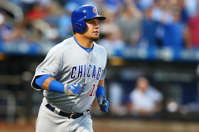 Kyle Schwarber was demoted to Triple-A Iowa on Thursday. (AP)