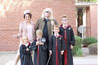 """<p>Even several years after the last <em>Harry Potter</em> movie hit theaters, you can still prove your """"always"""" credentials by grabbing your robes and wands as a family this year. </p><p><a class=""""link rapid-noclick-resp"""" href=""""https://www.amazon.com/Gryffindor-Classic-Childrens-Costume-Accessory/dp/B083TMJKDM/?tag=syn-yahoo-20&ascsubtag=%5Bartid%7C10055.g.29516206%5Bsrc%7Cyahoo-us"""" rel=""""nofollow noopener"""" target=""""_blank"""" data-ylk=""""slk:SHOP WIZARD ROBES"""">SHOP WIZARD ROBES</a></p><p><a class=""""link rapid-noclick-resp"""" href=""""https://www.amazon.com/Noble-Collection-NN1910-Illuminating-14-Inch/dp/B000U80O26/ref=sr_1_4?crid=2BTBQ3AXLLU61&dchild=1&keywords=harry+potter+wand&qid=1598646124&sprefix=harry+potter+wa%2Caps%2C161&sr=8-4&tag=syn-yahoo-20&ascsubtag=%5Bartid%7C10055.g.29516206%5Bsrc%7Cyahoo-us"""" rel=""""nofollow noopener"""" target=""""_blank"""" data-ylk=""""slk:SHOP WANDS"""">SHOP WANDS </a></p><p><em><a href=""""https://www.ourkerrazyadventure.com/diy-family-harry-potter-costumes-ideas/"""" rel=""""nofollow noopener"""" target=""""_blank"""" data-ylk=""""slk:Get the tutorial at Our Kerrazy Adventure »"""" class=""""link rapid-noclick-resp"""">Get the tutorial at Our Kerrazy Adventure »</a></em></p>"""