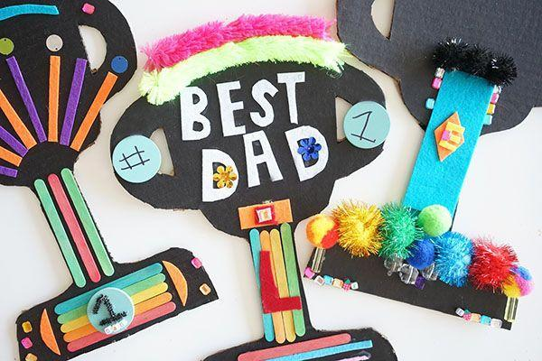 """<p>These trophies let kids totally unleash their creativity. Let them loose in the art-supply bin and have them go wild!</p><p><a href=""""https://mericherry.com/2018/05/23/fathers-day-trophies/"""" rel=""""nofollow noopener"""" target=""""_blank"""" data-ylk=""""slk:Get the tutorial at Meri Cherry Art Studio »"""" class=""""link rapid-noclick-resp""""><em>Get the tutorial at Meri Cherry Art Studio »</em></a></p>"""