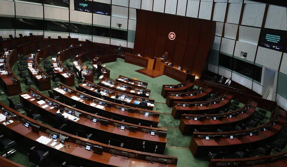 The city's government has praised the Legislative Council as more efficient since the departure of all its pan-democratic members. Photo: May Tse
