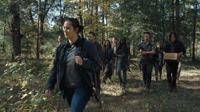 Tara (Alanna Masterson) leads the charge to Oceanside in <i>The Walking Dead</i>. (Photo: AMC)