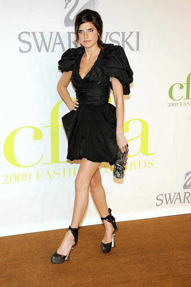 """Lake Bell got lost in her poufy all-black frock by Louis Vuitton. Jamie McCarthy/<a href=""""http://www.wireimage.com"""" target=""""new"""">WireImage.com</a> - June 15, 2009"""