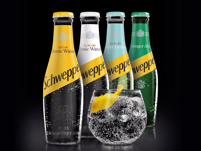 Schweppes redesigned bottles for its core range.
