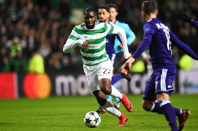 Celtic's French striker Odsonne Edouard has signed a four-year deal after a successful period on loan last season from PSG (AFP Photo/Andy BUCHANAN)