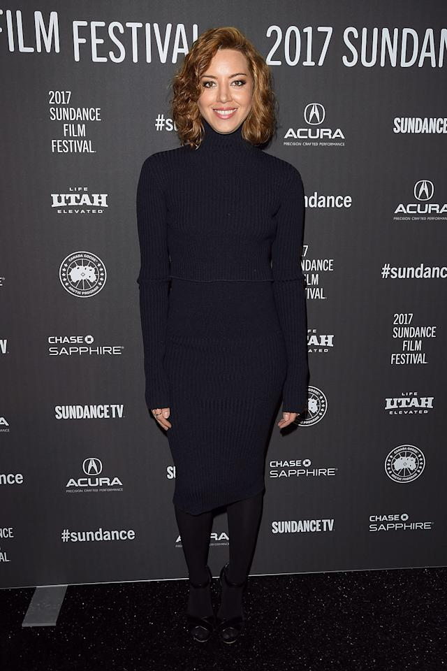 <p>The former 'Parks and Recreation' star attends the Jan. 19 premiere of 'The Little Hours.' (Photo: George Pimentel/Getty Images) </p>