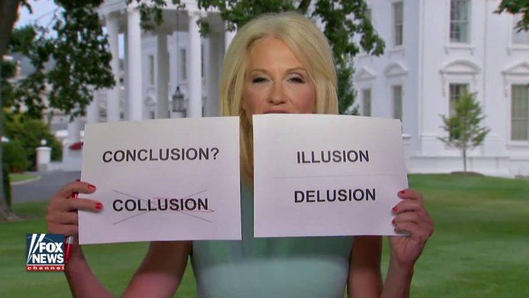 Watch Kellyanne Conway Use Flashcards to Infantalize Concern Over Trump, Russia