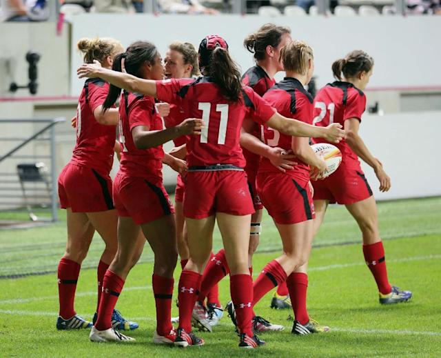 Check out Canadian Magali Harvey's electrifying 80-metre try in IRB Women's Rugby World Cup semi-final