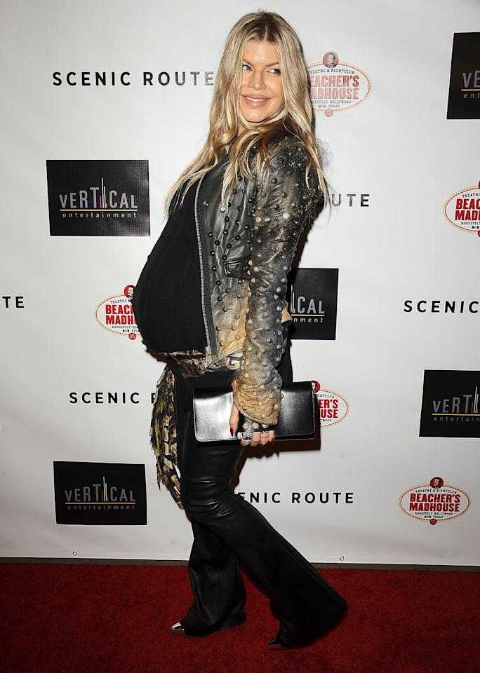 "HOLLYWOOD, CA - AUGUST 20:  Fergie attends the premiere of ""Scenic Route"" at Chinese 6 Theater Hollywood on August 20, 2013 in Hollywood, California.  (Photo by Jason LaVeris/FilmMagic)"