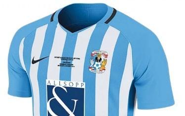 "Coventry City will wear a bespoke kit in the League Two play-off final - not to commemorate a showpiece occasion but because they have run out of their home strip. The club have exhausted the supply of their sky blue home kit, so will instead wear a specially made blue and white striped jersey against Exeter City at Wembley. Fans will be able to buy the shirt from the club shop, who found themselves out of stock of 2017-18's popular home shirt. Dave Boddy, Coventry Chief Executive, said: ""With our existing supply exhausted, we have commissioned a special, limited edition one-off shirt for the Play-Off Final. ""The striped kit is one with much history, especially at Wembley, for the Sky Blues. pic.twitter.com/2NqSzxnyTF— Coventry City (@Coventry_City) 21 May 2018 ""We hope it will be very popular with supporters, who will be able to buy the shirt now online at ccfc.clubstore.co.uk. ""This will not be the kit for the 2018/19 season, so we hope it will be a very unique shirt for the club and fans."" The late change will evoke fond memories for Coventry supporters. Coventry wore stripes at Wembley in the 1987 FA Cup final, enjoying one of their greatest days with a shock victory over Tottenham Hotspur. This is not the first kit-related story to precede a Wembley final. Arsenal had to ask for permission to wear their usual white shorts in the Carabao Cup final against Manchester City, and avoid wearing the unusual combination of red shirt, shorts and socks. There was the famous example of Manchester United changing shirts at halftime of 3-1 defeat at Southampton in 1996. Sir Alex Ferguson blamed United's changed grey kit for a poor first-half showing, claiming his players struggled to see each other as the shirts were difficult to spot in the bright sunshine."