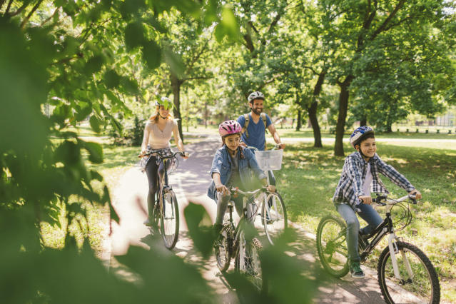 Going on bike rides has been one of the highlights of lockdown for many families. (Getty Images)