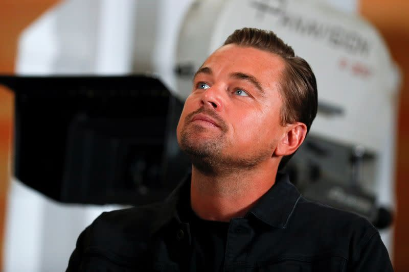 """Cast members Leonardo di Caprio takes part in a photo call for the movie """"Once Upon a Time in Hollywood"""" in Beverly Hills, California"""