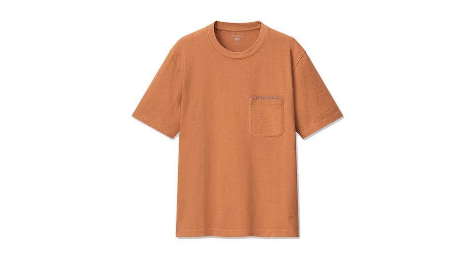 JW ANDERSON BLANKET STITCHED SHORT SLEEVED T-SHIRT
