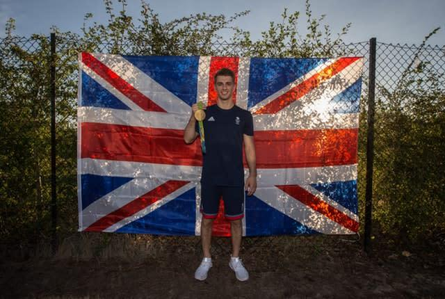 Max Whitlock with one of his 2016 Olympic gold medals (Steve Paston/PA)