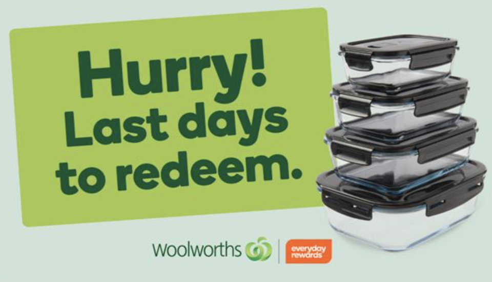 A Woolworths advertisement urging customers to redeem containers.