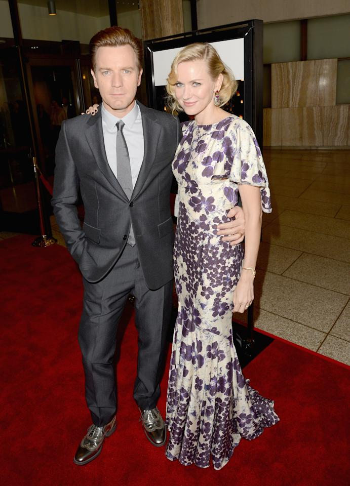 "HOLLYWOOD, CA - DECEMBER 10:  Actors Ewan McGregor (L) and Naomi Watts attend the Los Angeles premiere of Summit Entertainment's ""The Impossible"" at ArcLight Cinemas Cinerama Dome on December 10, 2012 in Hollywood, California.  (Photo by Jason Merritt/Getty Images)"