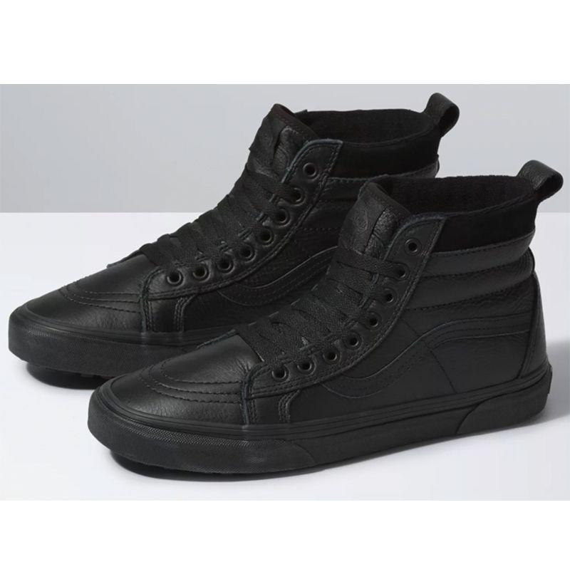 """<p><strong>Vans</strong></p><p>vans.com</p><p><strong>$69.95</strong></p><p><a href=""""https://go.redirectingat.com?id=74968X1596630&url=https%3A%2F%2Fwww.vans.com%2Fshop%2Fmens-new-and-popular-arrivals%2Fsk8-hi-mte-leather-black&sref=https%3A%2F%2Fwww.esquire.com%2Fstyle%2Fmens-fashion%2Fg29339512%2Fbest-winter-sneakers%2F"""" rel=""""nofollow noopener"""" target=""""_blank"""" data-ylk=""""slk:Buy"""" class=""""link rapid-noclick-resp"""">Buy</a></p><p>When Vans began the process of revamping its legendary high top silhouette it set out to make a perfect winterized sneaker—incorporating water-resistant leather uppers, heat retention layers, and a vulcanized lug outsole for added traction—and I'll be damned if it didn't come close. <br></p>"""