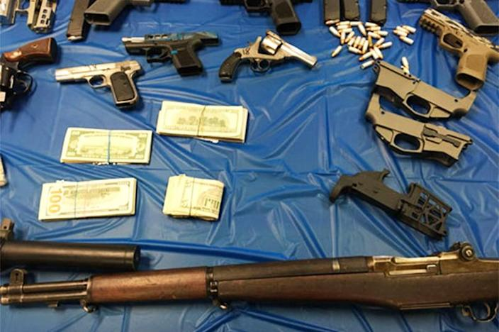 Ghosts'n Guns (Josh Shapiro Attorney General's Office) confiscated from a couple involved in a drug and gun trafficking program in Northampton, Pennsylvania