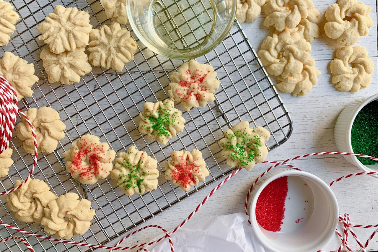 """<p><strong>Recipe: <a href=""""https://www.southernliving.com/recipes/spritz-cookies"""">Spritz Cookies</a></strong></p> <p>Originating in Germany and Scandinavia in the 16th century, these simple cookie-press creations will be your kids' new favorite cookie.</p>"""
